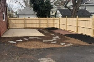 After new fence and backyard renovation